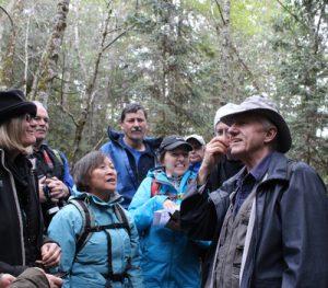 Leading a mushroom walk
